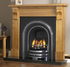 Decorative Arched Cast-iron Fireplace Insert Polished